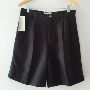 NWT Breakwater Black Pleated Dress Shorts